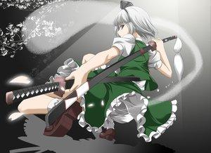 Rating: Safe Score: 74 Tags: katana konpaku_youmu myon sword touhou weapon User: HawthorneKitty