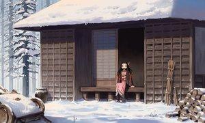 Rating: Safe Score: 43 Tags: building gag japanese_clothes kamado_nezuko kimetsu_no_yaiba kimono snow yusheng User: FormX