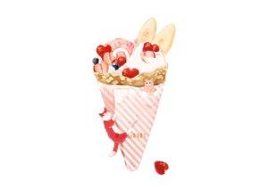 Rating: Safe Score: 39 Tags: animal cat food fruit hakuchizu_(jedo) ice_cream nobody original strawberry watermark white User: otaku_emmy