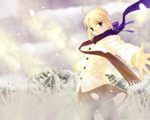 Rating: Safe Score: 8 Tags: artoria_pendragon_(all) fate_(series) fate/stay_night saber scarf type-moon User: Oyashiro-sama
