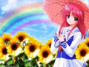 Rating: Safe Score: 14 Tags: agatsuma_mizuki nishimata_aoi rainbow umbrella yumeria User: Oyashiro-sama