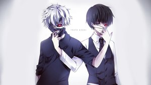 Rating: Safe Score: 142 Tags: all_male black_hair eyepatch kaneki_ken male red_eyes short_hair tokyo_ghoul white white_hair User: Cymbor