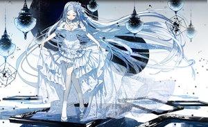 Rating: Safe Score: 71 Tags: dress flowers g.g.lemon headband long_hair mirror original white_hair User: RyuZU