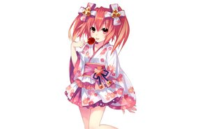 Rating: Safe Score: 74 Tags: alyn_(fairy_fencer_f) apple candy fairy_fencer_f food fruit japanese_clothes photoshop red_eyes red_hair tsunako twintails white yukata User: luckyluna