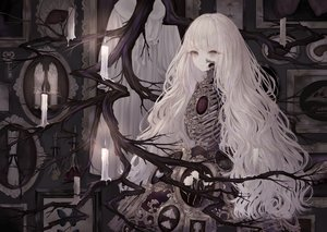Rating: Safe Score: 64 Tags: bones dress gray_eyes long_hair original polychromatic white_hair yoggi_(stretchmen) User: BattlequeenYume