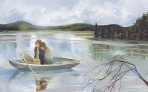 Rating: Safe Score: 72 Tags: boat bokura_ga_ita scenic takahashi_nanami water yano_motoharu User: the_buzzsaw