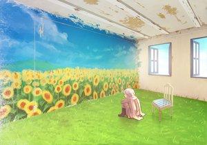 Rating: Safe Score: 72 Tags: all_male anthropomorphism axis_powers_hetalia building clouds flowers grass male rinko_(sky) russia_(hetalia) scarf sunflower User: HawthorneKitty