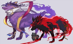 Rating: Safe Score: 6 Tags: all_male animal blood dog fate/grand_order fate_(series) gurekan25 headband male nobody okada_izou_(fate) rope scarf wolf User: otaku_emmy