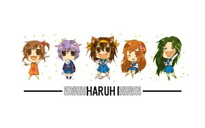 Rating: Safe Score: 17 Tags: animal_ears asahina_mikuru chibi kyon_no_imouto nagato_yuki school_uniform suzumiya_haruhi suzumiya_haruhi_no_yuutsu tail tsuruya white User: rargy