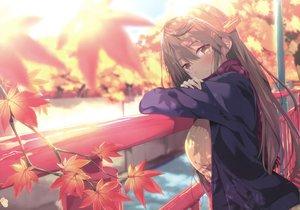 Rating: Safe Score: 136 Tags: anthropomorphism autumn gintarou_(kurousagi108) haruna_(kancolle) kantai_collection scan signed User: luckyluna