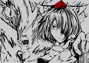 Rating: Safe Score: 37 Tags: animal_ears hat inubashiri_momiji mito_(calcomer) polychromatic red_eyes short_hair touhou wolfgirl User: PAIIS