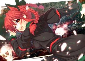 Rating: Safe Score: 33 Tags: animal_ears blush catgirl kaenbyou_rin long_hair red_hair touhou User: Tensa