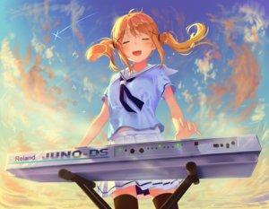 Rating: Safe Score: 34 Tags: bang_dream! blonde_hair clouds ichigaya_arisa instrument long_hair piano poligon046 seifuku skirt sky sunset thighhighs twintails User: otaku_emmy