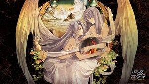 Rating: Safe Score: 58 Tags: 2girls angel animal enami_katsumi feena flowers gray_hair leaves long_hair rabbit reah wings ys User: Wiresetc