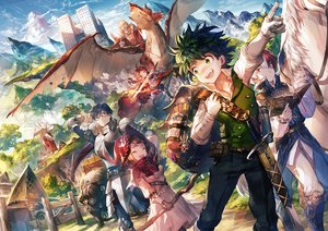 Rating: Safe Score: 74 Tags: all_might animal armor bakugou_katsuki bicolored_eyes blue_hair blush boku_no_hero_academia book brown_hair building cape clouds dragon dress glasses gloves green_eyes green_hair group hat horns horse iida_tenya kirishima_eijirou male midoriya_izuku necklace red_eyes red_hair scorpion5050 short_hair sky sword todoroki_shouto uraraka_ochako weapon witch witch_hat User: RyuZU
