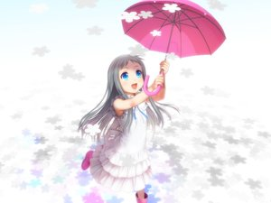 Rating: Safe Score: 109 Tags: ano_hi_mita_hana_no_namae_wo_bokutachi_wa_mada_shiranai aqua_eyes boots dress gray_hair honma_meiko loli long_hair moonknives umbrella User: Flandre93
