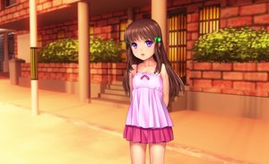 Rating: Safe Score: 32 Tags: brown_hair dress loli moonknives original purple_eyes User: gnarf1975