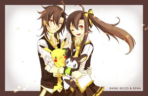 Rating: Safe Score: 90 Tags: deiyanoko emolga pikachu pokemon raine_reizo raine_rena utau User: BoobMaster