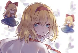 Rating: Safe Score: 27 Tags: alice_margatroid aqua_eyes blonde_hair cape close doll headband shanghai_doll short_hair toriki touhou User: otaku_emmy