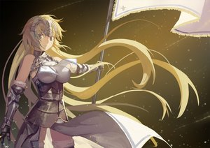 Rating: Safe Score: 147 Tags: armor blonde_hair breasts elbow_gloves fate/apocrypha fate/grand_order fate_(series) gloves jeanne_d'arc_(fate) long_hair nanaya_(daaijianglin) thighhighs User: Flandre93