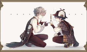 Rating: Safe Score: 11 Tags: achan_(blue_semi) all_male black_hair glasses gloves grand_fantasia gray_hair hat john_watson_(grand_fantasia) male sherlock_holmes_(grand_fantasia) short_hair User: otaku_emmy