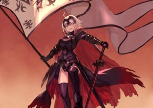 Rating: Safe Score: 46 Tags: armor boots cape fate/grand_order fate_(series) gradient headdress jeanne_d'arc_alter jeanne_d'arc_(fate) peroncho short_hair thighhighs white_hair yellow_eyes User: otaku_emmy