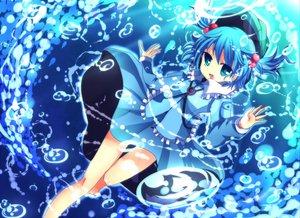 Rating: Safe Score: 36 Tags: barefoot blue_hair green_eyes hat kawashiro_nitori short_hair touhou twintails water User: w7382001