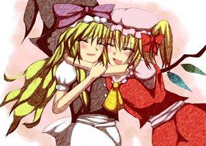 Rating: Safe Score: 11 Tags: 2girls flandre_scarlet kirisame_marisa touhou vampire witch User: Oyashiro-sama