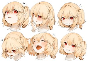 Rating: Safe Score: 73 Tags: blonde_hair blush fang flandre_scarlet gotoh510 pointed_ears ponytail red_eyes short_hair touhou vampire white User: otaku_emmy