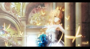 Rating: Safe Score: 179 Tags: artoria_pendragon_(all) blonde_hair butterfly dress elbow_gloves fate_(series) fate/stay_night flowers gloves magicians saber wedding_attire User: Flandre93