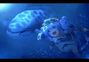 Rating: Safe Score: 56 Tags: animal blue bubbles kawashiro_nitori rby touhou underwater water User: HawthorneKitty