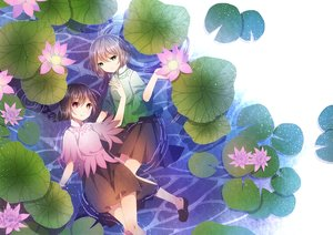 Rating: Safe Score: 52 Tags: 2girls flowers luo_tianyi vocaloid vocaloid_china xiao_guiling yuezheng_ling User: FormX