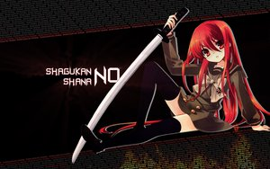 Rating: Safe Score: 37 Tags: katana long_hair red_eyes red_hair school_uniform shakugan_no_shana shana sword thighhighs weapon User: asteven