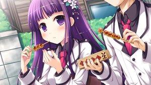 Rating: Safe Score: 43 Tags: flowers food game_cg iro_ni_ide_ni_keri_waga_koi_wa ko~cha purple_eyes purple_hair school_uniform tenjo_kikyou windmill_(company) User: korokun