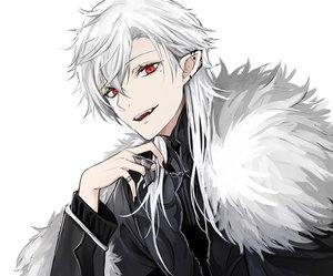 Rating: Safe Score: 24 Tags: all_male close cropped fang gothic kuzuha_(nijisanji) long_hair luse_maonang male nijisanji pointed_ears polychromatic red_eyes vampire white white_hair User: otaku_emmy