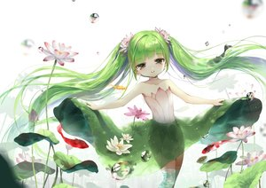 Rating: Safe Score: 70 Tags: animal bubbles choker fish flowers green_hair hatsune_miku long_hair photoshop siloteddy twintails underwear vocaloid water User: Efrieh