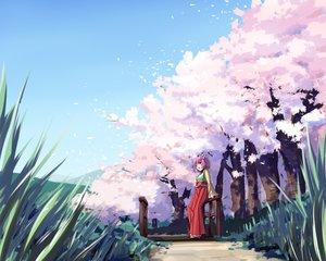 Rating: Safe Score: 37 Tags: akizuki_rito aliasing bow brown_eyes cherry_blossoms grass hieda_no_akyuu petals pink_hair short_hair touhou tree User: RyuZU