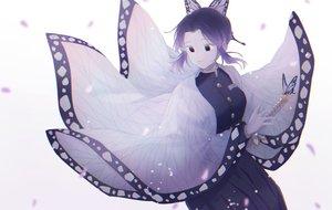 Rating: Safe Score: 14 Tags: black_eyes black_hair butterfly japanese_clothes katana kimetsu_no_yaiba kochou_shinobu meizi_(sakura_umeko28) short_hair sword weapon User: sadodere-chan