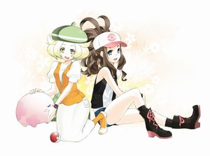 Rating: Safe Score: 59 Tags: 92m bel_(pokemon) blonde_hair blue_eyes boots brown_hair green_eyes hat munna pokemon touko_(pokemon) User: austerely