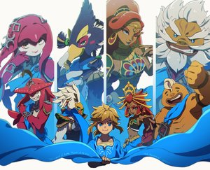 Rating: Safe Score: 33 Tags: aqua_eyes armor blonde_hair blue_eyes braids brown_hair dark_skin daruk gray_hair green_eyes group headdress link_(zelda) long_hair male navel ponytail princess_mipha red_hair revali riju short_hair sidon teba the_legend_of_zelda ukata urbosa wink wristwear yellow_eyes yunobo User: otaku_emmy