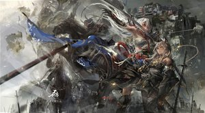 Rating: Safe Score: 118 Tags: animal armor horse katana original pixiv_fantasia stu_dts sword weapon User: FormX