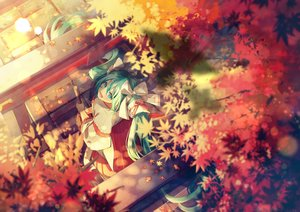Rating: Safe Score: 50 Tags: autumn ayame_(3103942) hatsune_miku japanese_clothes miko vocaloid User: Dreista