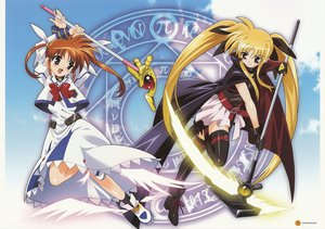 Rating: Safe Score: 35 Tags: fate_testarossa mahou_shoujo_lyrical_nanoha takamachi_nanoha thighhighs User: Oyashiro-sama