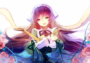 Rating: Safe Score: 86 Tags: bicolored_eyes brown_hair flowers headdress long_hair prophet_heart ribbons rozen_maiden suiseiseki User: FormX