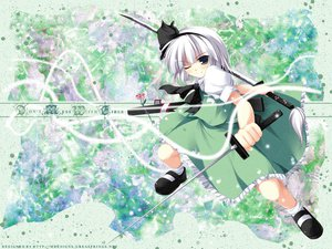 Rating: Safe Score: 39 Tags: katana konpaku_youmu sword touhou weapon User: Oyashiro-sama