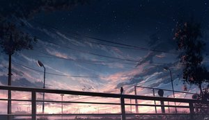 Rating: Safe Score: 65 Tags: clouds original signed sky skyrick9413 stars sunset tree User: otaku_emmy