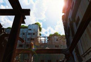 Rating: Safe Score: 80 Tags: animal bird building city clouds mocha_(cotton) nobody original ruins scenic signed sky tree User: RyuZU