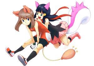 Rating: Safe Score: 54 Tags: animal_ears catgirl haruka_(pokemon) hikari_(pokemon) pokemon tail User: HawthorneKitty
