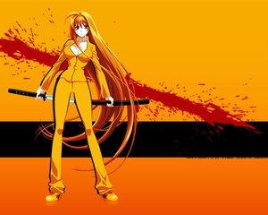 Rating: Safe Score: 44 Tags: katana kill_bill natsume_aya parody sword tenjou_tenge weapon User: Orfen