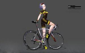 Rating: Safe Score: 40 Tags: bicycle bike_shorts blue_eyes glasses gloves gradient hitomi_kazuya original photoshop shorts skintight watermark User: gnarf1975